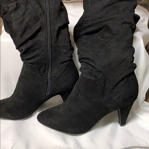 Cute little slouched below the knee boot